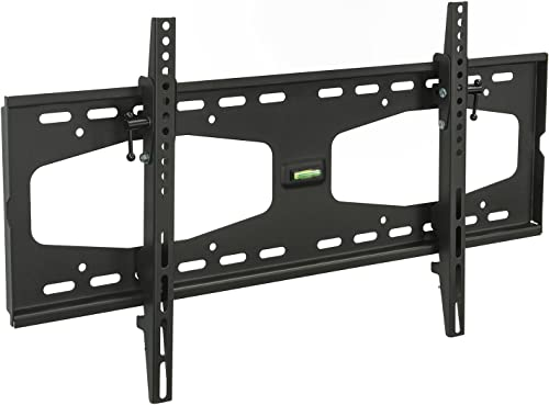 Mount-It Slim Tilting TV Wall Mount Bracket for 32-55 Inch Samsung, Sony, Vizio, LG, Sharp TVs with Low Profile Design up to VESA 600x400mm, Black