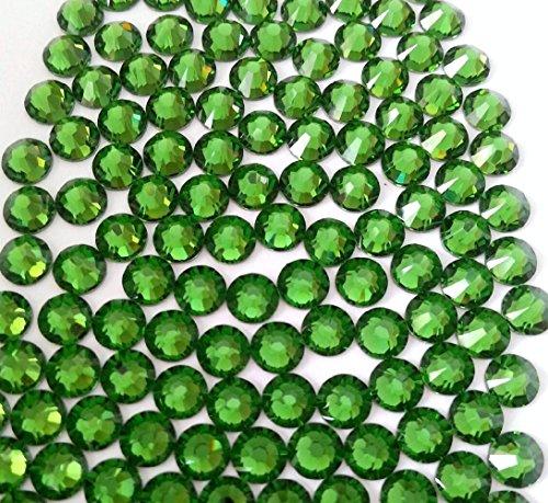 HOTFIX Fern Green Crystal Rhinestones Flatback 144 SWAROVSKI 3.8mm 16ss ss16 - Green Swarovski Rhinestones Hot Fix
