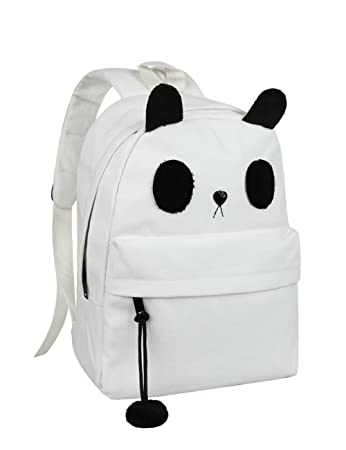 Cute Canvas Casual Style Panda Backpack Shoulder Book Bag Model B010392