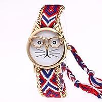 Longra Reloj Lindo Gato de Dibujos Animados Pulsera