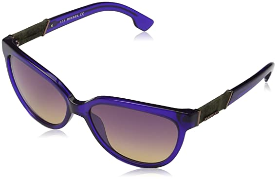 8e090a8958 Amazon.com  Diesel Eyewear Womens Square Sunglasses (Purple)  Clothing