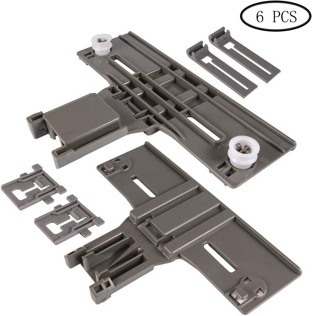 W10350376 & W10195840 & W10195839 Dishwasher Top Rack Adjuster Dishwasher Positioner for Whirlpool Kenmore (Pack of 2)