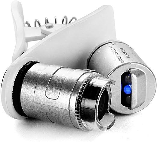 Lupa de microscopio 60X, tipo de clip, alta definición, alto ...
