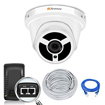 Jennov PoE Security Ip Dome Camera System 1080P Home Video