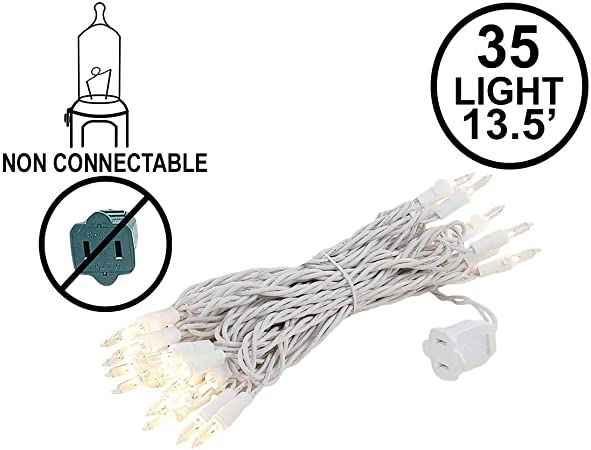 3x 20 Clear Mini Christmas Craft Lights Green Wire Wreath Holiday Incandescent