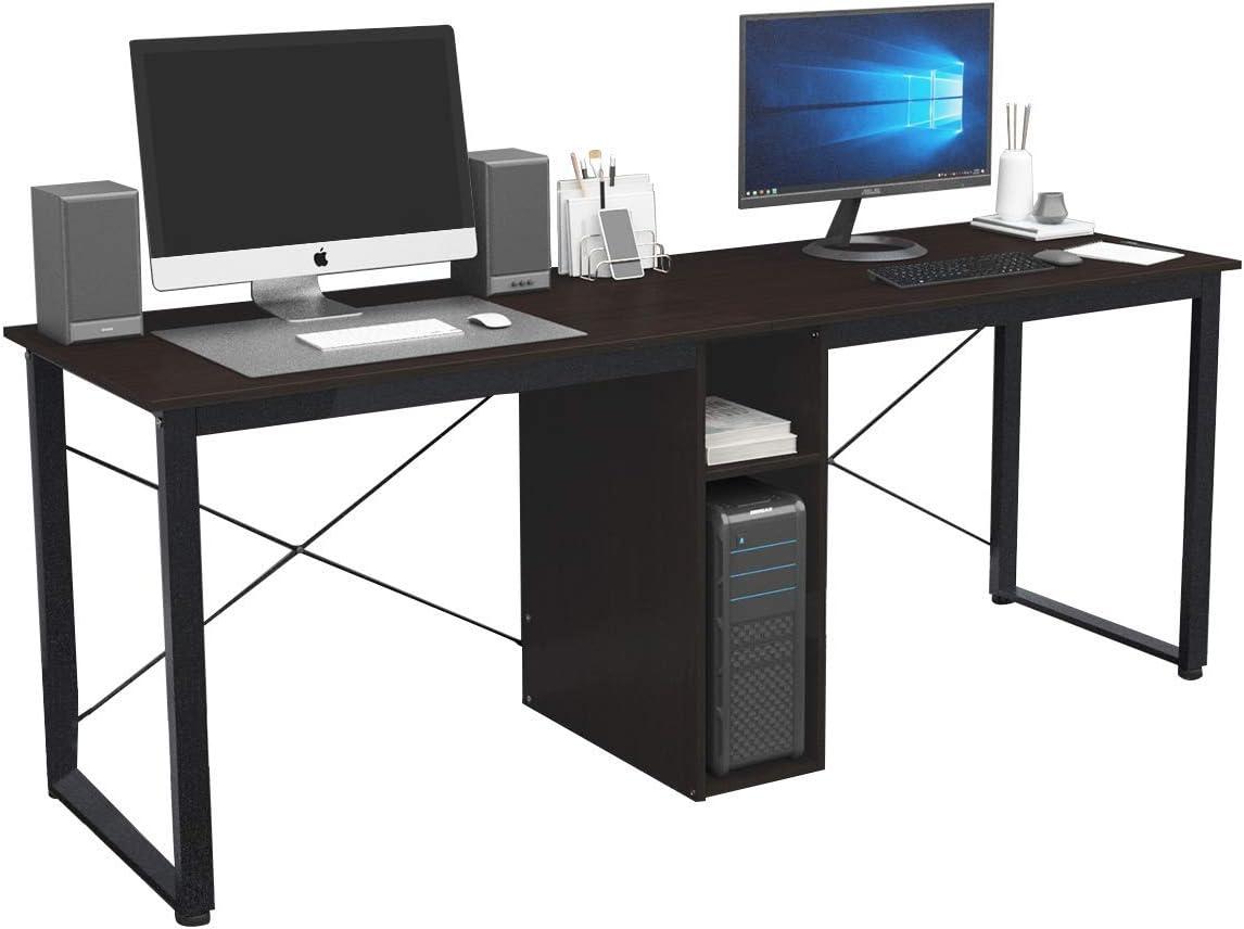 Mesa de Comedor Mesa de Conferencia,Blanco,AC3DW-120-SH SogesHome Escritorio de Oficina 120 x 60 x 75 cm PC Escritorio Estaci/ón de Trabajo para Uso de Oficina en el hogar Mesa de Escritura