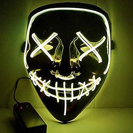 HS-ZM-06 Máscara De Halloween Led Luz Fría Máscara Luces ...