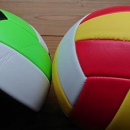 Amazon Co Jp バレーボール 5号球 スポーツボール ソフト軽量 柔らかい 練習用初心者 家庭婦人バレー ミカン黑白 Sports