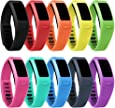 Henoda 10 Colors Replacement Wristband with Metal Clasps for Garmin Vivofit Bands