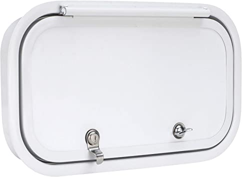 RV White Compartment//Luggage// Replacement door  Handle keyed