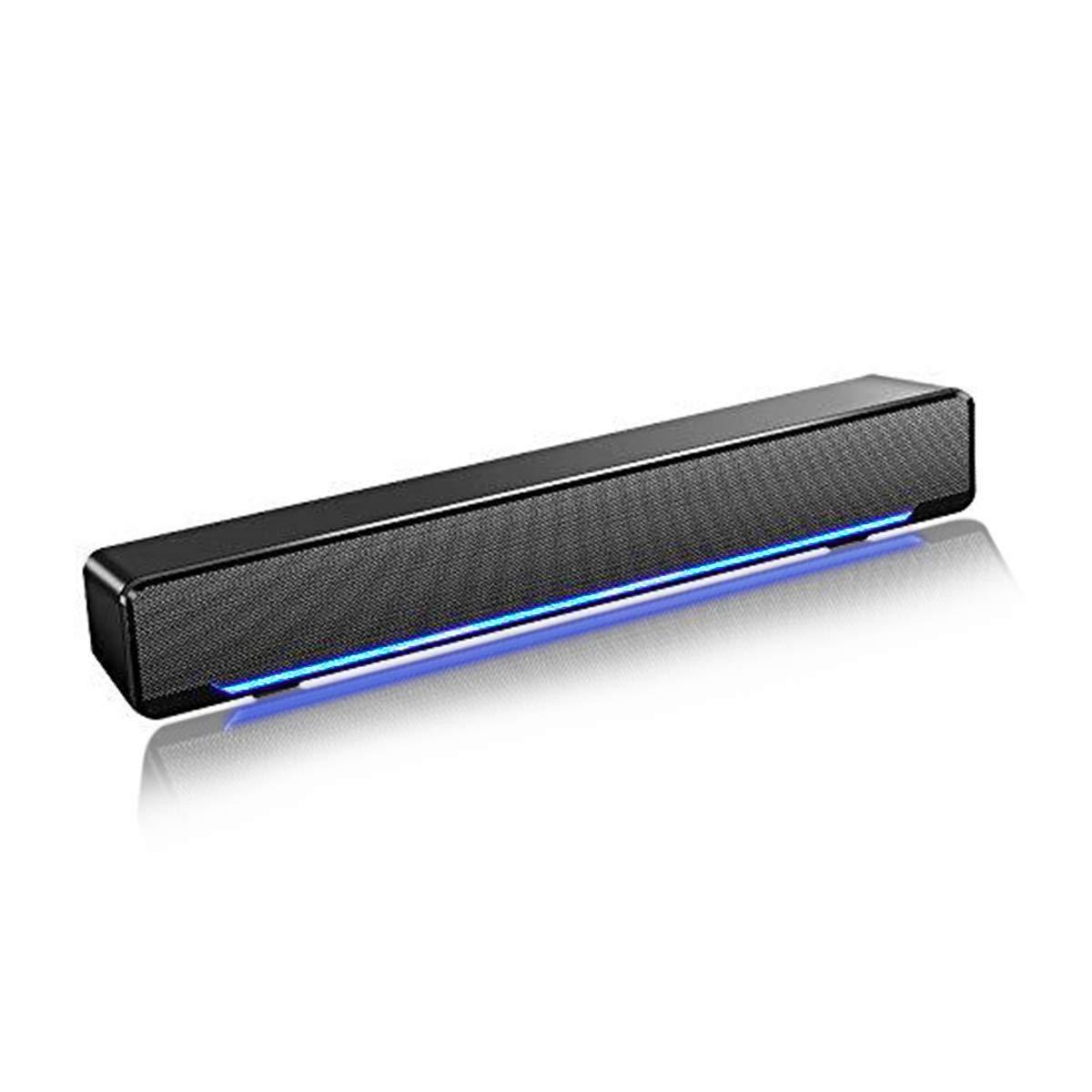 Soudbar, Maboo USB Powered Sound Bar Speakers for Computer Desktop Laptop PC, Black USB