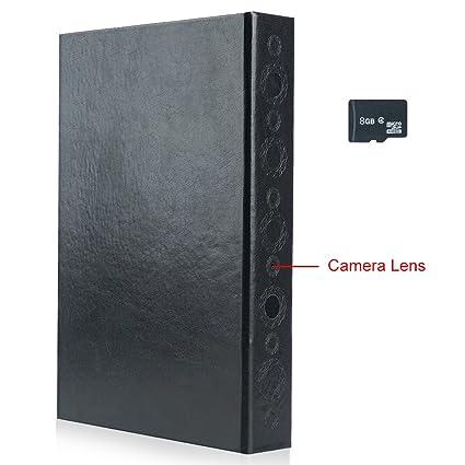 wiseup 8 GB 1920 x 1080p Full HD recargables Ocultos infrarrojos cámara espía libro de movimiento