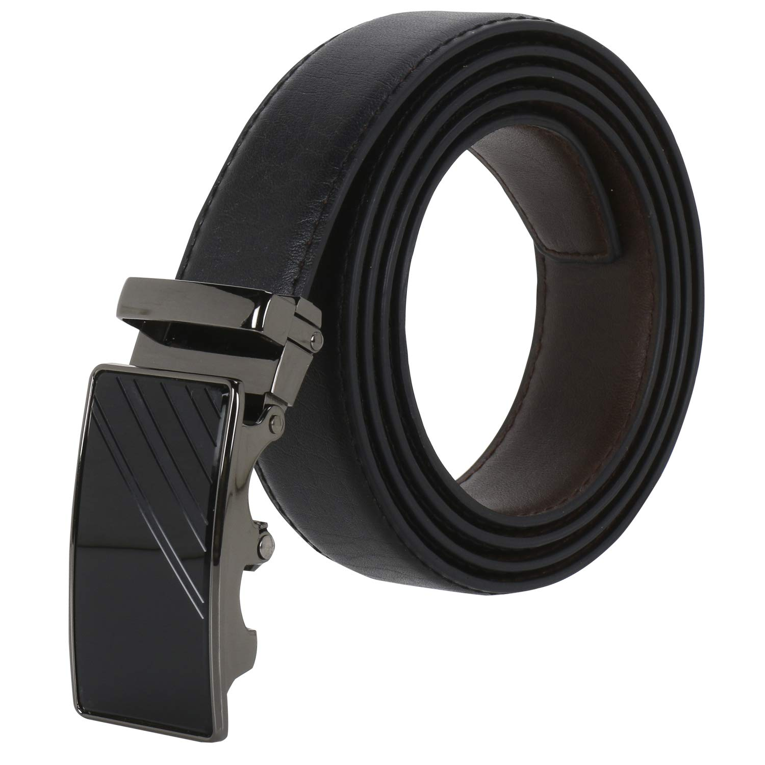 Mens leather belt brand business round Z buckle leather belt
