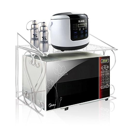 Estante de almacenamiento para microondas (metal)