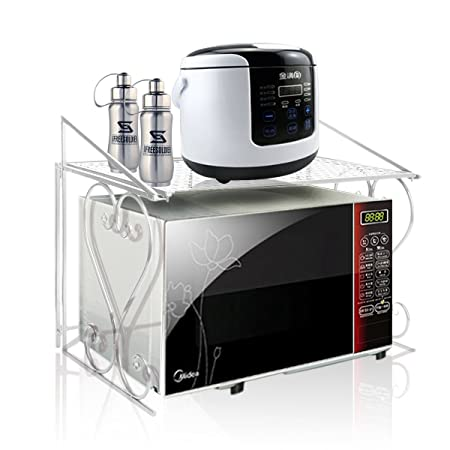 Estante de almacenamiento para microondas (metal): Amazon.es: Hogar