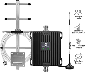 Cell Phone Signal Booster for Home and Office - Boost Verizon AT&T T-Mobile 4G LTE Data & HD Voice Cellular - 700MHz Dual Band 12/13/17 Repeater Amplifier Kit with Omni/Yagi Antennas