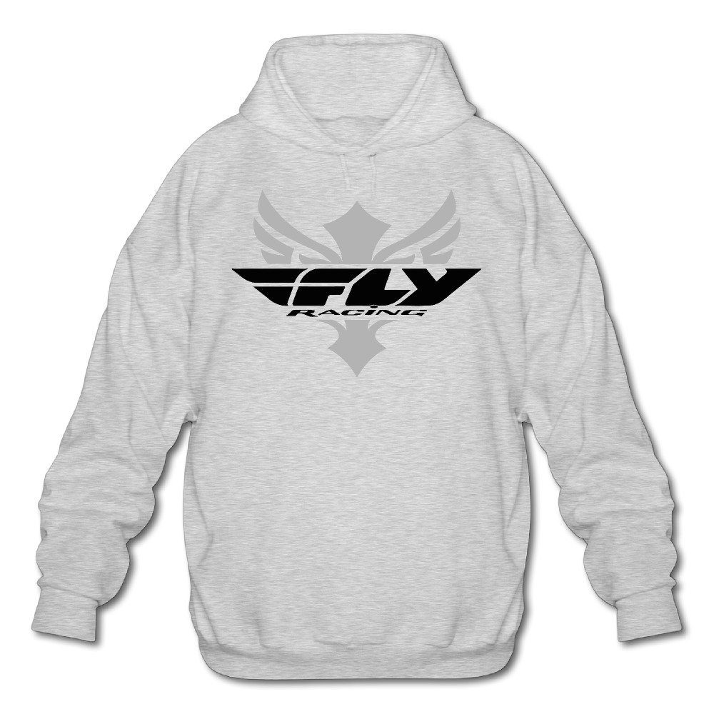 ONluu Mens Fly Racing Logo Hooded Sweatshirt