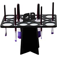 BEAKEY Makeup Brush Drying Rack Tree Air Tower Organizer Folding Brush Holder Accessories Cosmetic Shelf Tools - 28 Holes