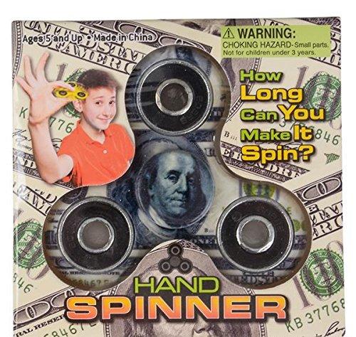 3'' HUNDRED DOLLAR BILL HAND SPINNER, Case of 3