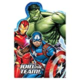 "Avengers Birthday Party Postcard Invitation Kit, Pack Of 8, Multi, 4 1/4"" X 5 7/9"", Paper"