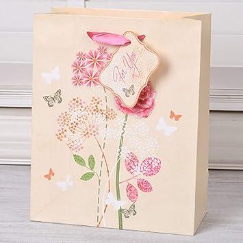 Amazon.com: Bolsa de regalo con asa de lazo de mariposa de ...