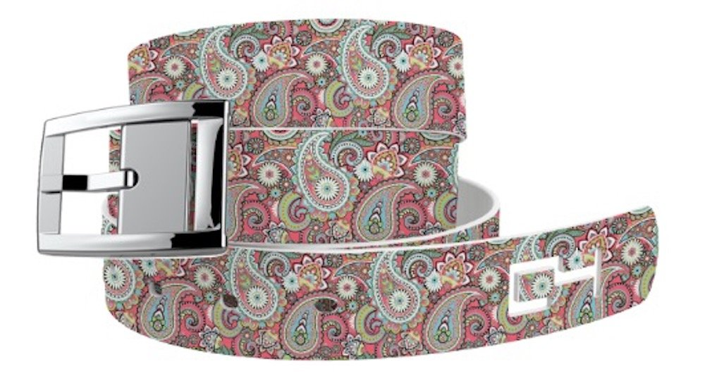 C4 Belts C4 Paisley Magenta Classic Belt with Silver Buckle - Fashion Belt - Waist Belt for Women and Men