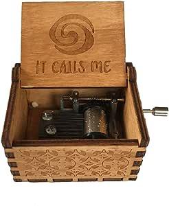 Mini manivela de madera reloj musical, melodía artesanal reloj de ...