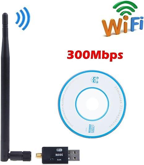 SUNNY-MERCADO Nueva 300M de WIFI adaptador USB 802.11n ...