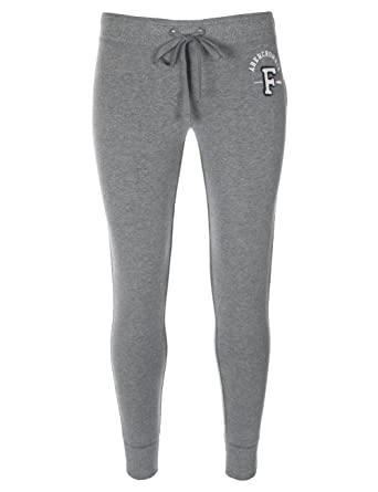 Abercrombie   Fitch - Pantalon de survêtement - coupe skinny - femme - gris  clair - 7aed1a3866e