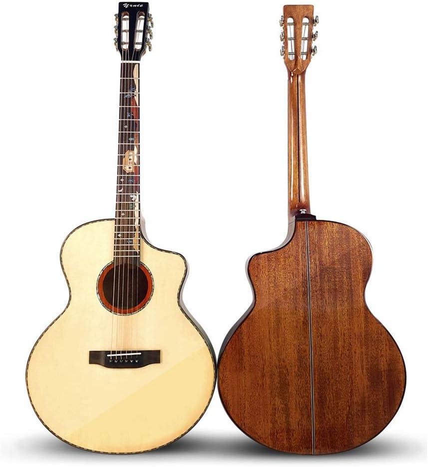 ZDAMN Guitarra De Gama Alta clásico Cabeza 41 Pulgadas de Chapa de Madera de Caoba Spruce Luz Folk (Color : Natural, Size : 41 Inches)