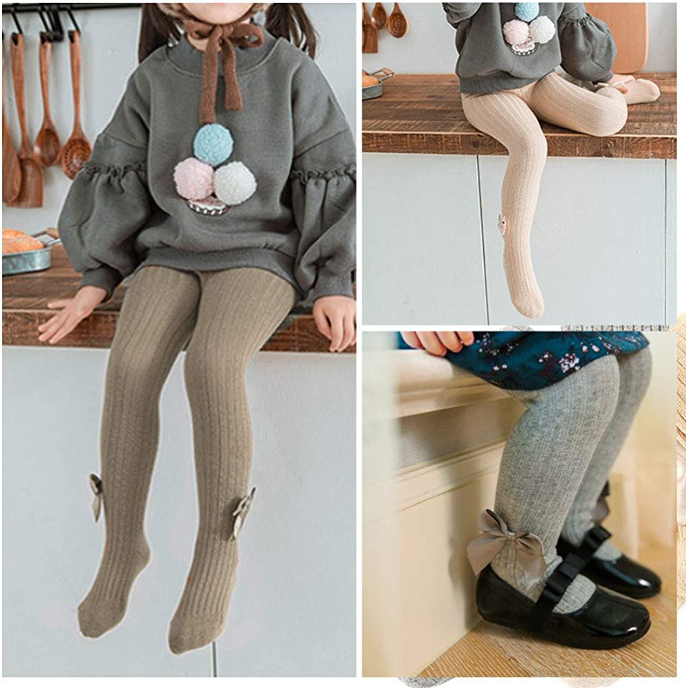 Dsaren 3er Kinder Strumpfhosen M/ädchen Baumwolle Strickstrumpfhose S/ü/ß Socken Leggings