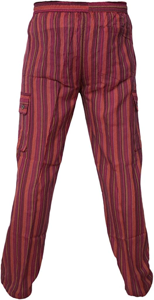 para hombre de algod/ón de verano con cinturilla el/ástica Pantalones sueltos