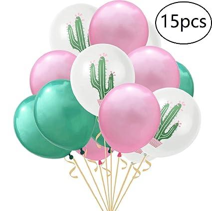 Amazon.com: EBTOYS 15pcs globos de látex cactus fiesta ...