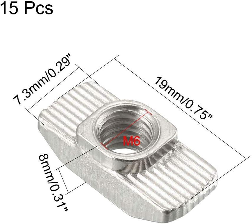 sourcing map 5Stk T-Muttern f/ür 4545 Serie stranggepresstem Aluminium Profil M8-Gewinde
