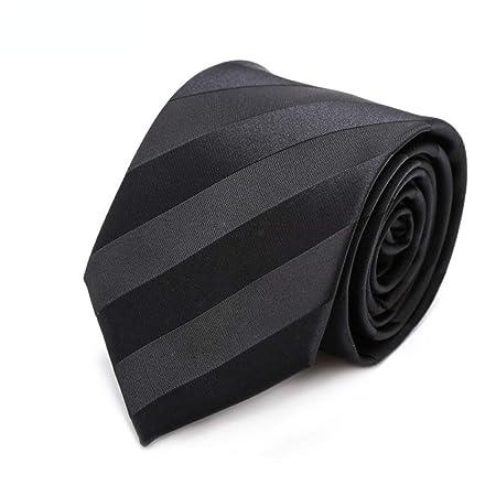Corbata de Lazo Minimalismo en Caja 7 Cm Traje Negro Tie Hombres ...