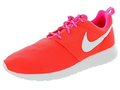 6de75e409e0f9 Image Unavailable. Image not available for. Color  Nike Kids Rosherun (GS)  Lava Glow White Pink ...