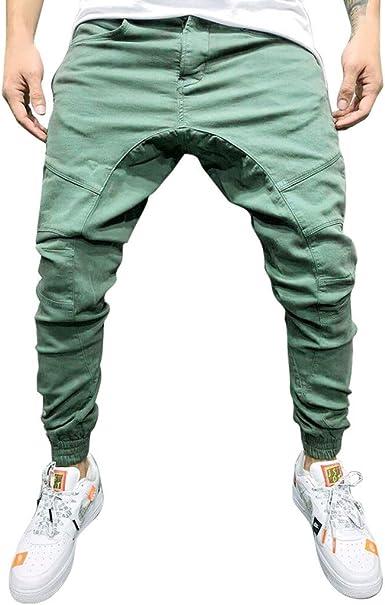 Pantalones Deportivos Sueltos De Sólido Color Jogging Pantalones ...