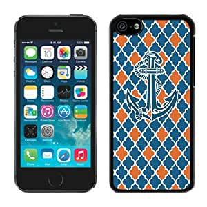 Unique Anchor Colorful Iphone 5c TPU Case Best Black Soft Cover Cell Phone Accessories