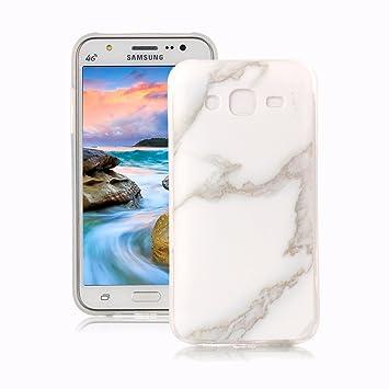 Yunbaoz Funda Compatible para Samsung Galaxy J5 2015 Mármol, Diseño Mármol Carcasa Suave Goma Silicona Soft Marble Case Suitable for Samsung Galaxy J5 ...