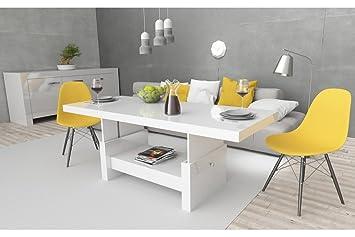 Design Couchtisch Aversa H 111 Weiß Hochglanz Schublade