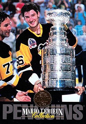 (CI) Mario Lemieux, Paul Coffey, Stanley Cup Hockey Card 1993-94 Leaf Mario Lemieux 8 Mario Lemieux, Paul Coffey, Stanley Cup