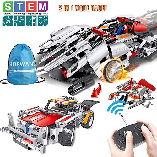STEM Building Toys, Remote Control Racer Learning Kits 326 Pcs for 7, 8 and 9 Year Old Boys and Girls | Top Birthday Gift Ideas for Kids Age 7-14 -