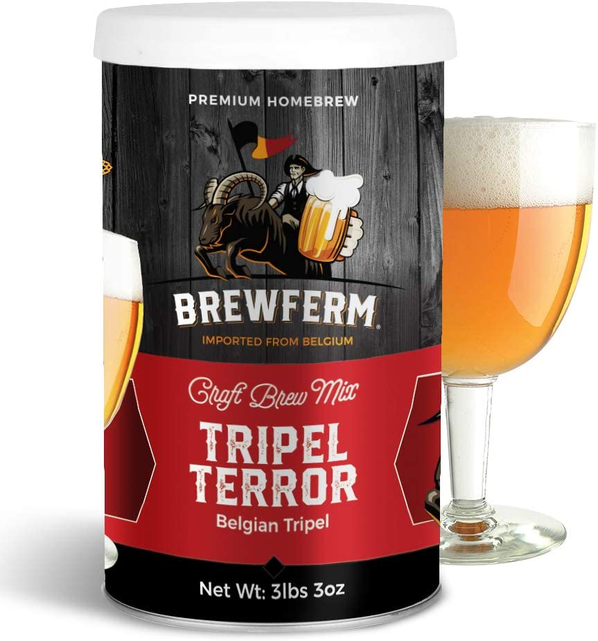 Brewferm Tripel Terror (Belgian Tripel) Belgian Homebrew Craft Beer Mix - makes 9 liters or 2.5 gallons of beer