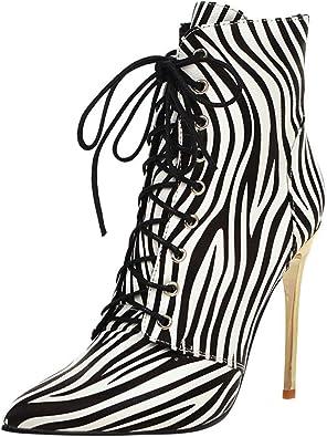 leopard print high heel booties