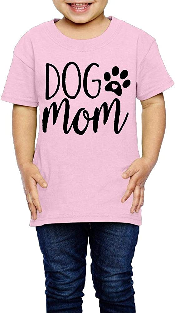XYMYFC-E Dog Mom Letters Print 2-6 Years Old Boys /& Girls Short Sleeve T Shirts