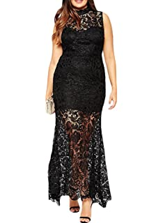 made2envy Premium Lace Overlay Sleeveless Maxi Dress