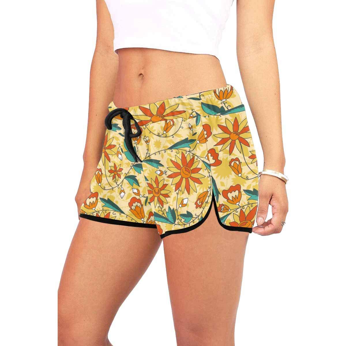INTERESTPRINT Women Active Fitness Sports Shorts Yoga Running Activewear
