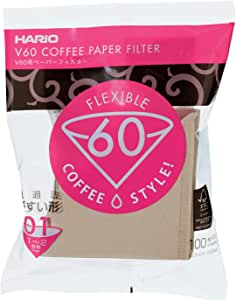 Hario V60 Paper Filter 100 Sheet - Natural Unbleached 01