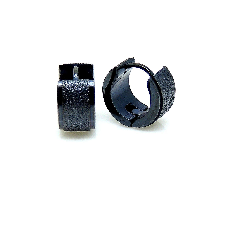 Ginger Lyne Collection Black Steel Hypoallergenic Hoop 7mm Earrings