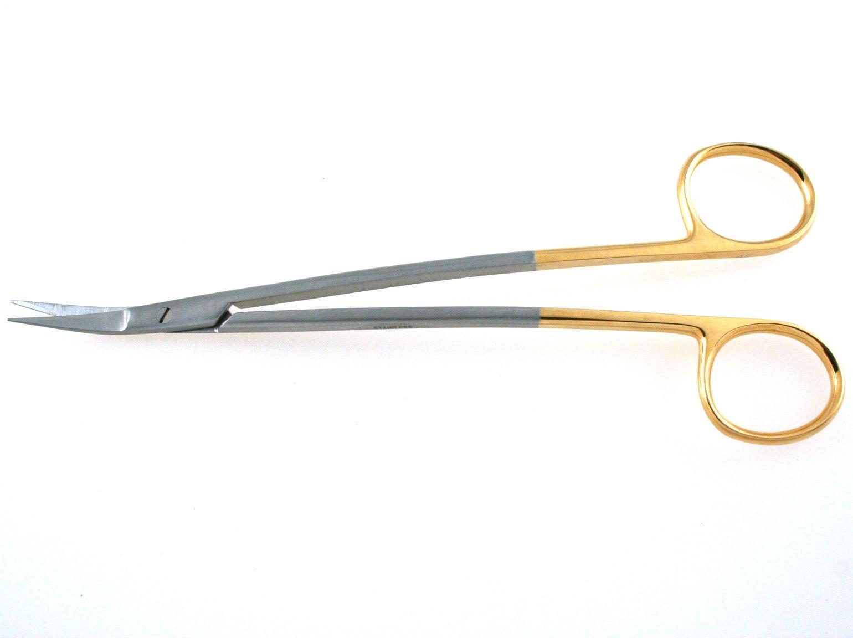 TC Dean Scissors 6.75'' Angled, Serrated Blade - SurgicalExcel